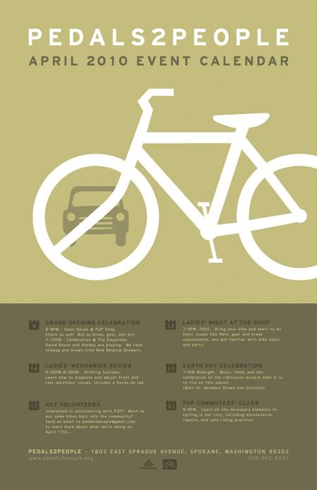 Pedals2People April Events Calendar