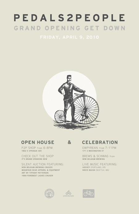 Pedals2People Grand Opening Poster